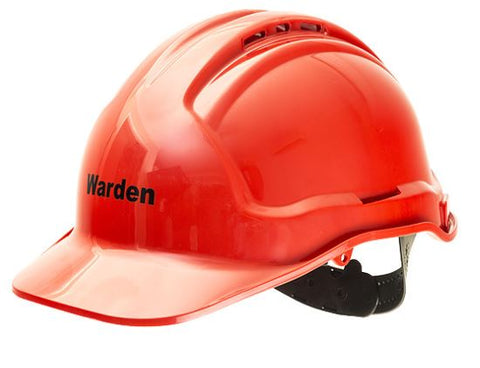 Warden Hard Hat - Red Warden