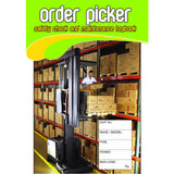 Order Picker Safety Check and Maintenance Logbooks