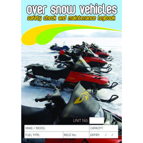 Over Snow Safety Check and Maintenance Logbooks