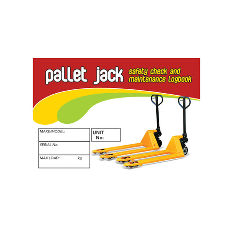 Pallet Jack Safety Pre Start Checklist and Maintenance Logbook