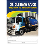 Pit Cleaning Truck Safety Check and Maintenance Logbook
