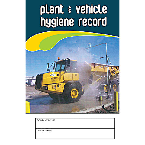 Plant And Vehicle Hygiene Carbonless Record Logbook