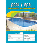 Pool Spa Daily Check testing Maintenance Logbook
