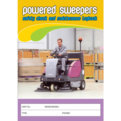Powered Sweeper Safety Check and Maintenance Logbook