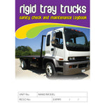 Rigid Tray Truck Safety Pre Start Checklist and Maintenance Logbook