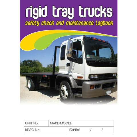 Rigid Tray Truck Safety Check and Maintenance Logbook