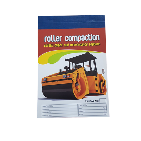 Roller Compaction Carbonless Safety Check and Maintenance Logbook
