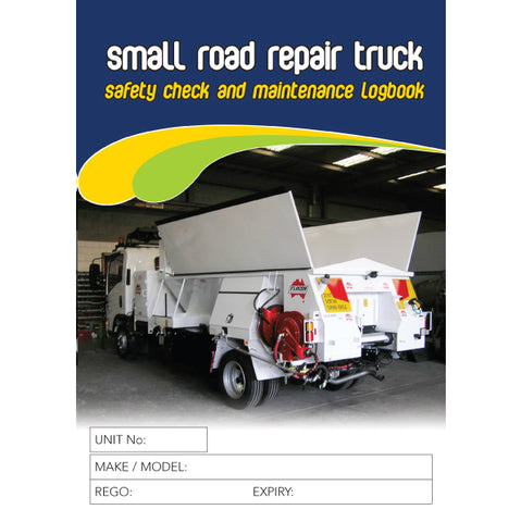 Small Road Repair Safety Check And Maintenance Logbook