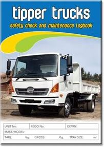Tipper Trucks Safety Check and Maintenance Logbooks