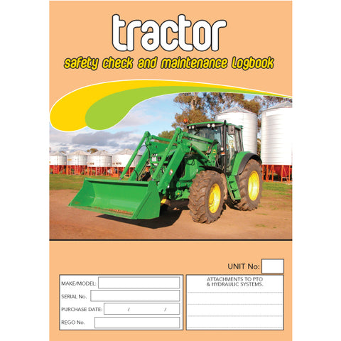 Tractor Safety Pre Start Checklist and Maintenance Logbook