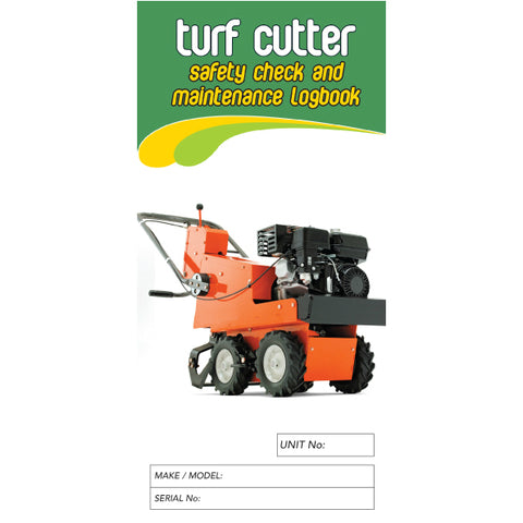 Turf Cutter Safety Check and Maintenance Logbook