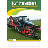 Turf Harvesters Safety Check and Maintenance Logbook