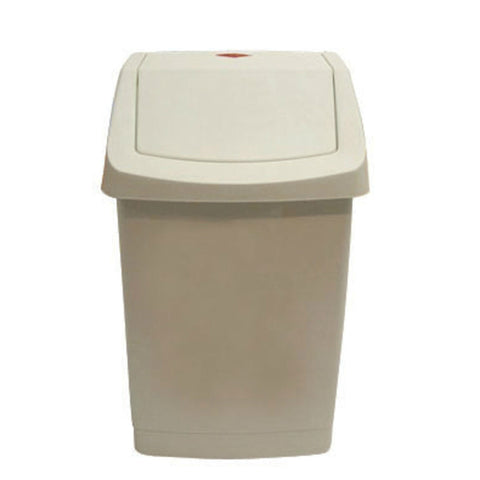 Garbage Bin Tidy Bin White Swing Top 27 Liter
