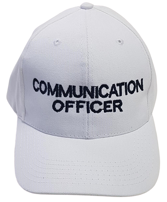 White Communications Officer warden cap