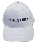 Warden Cap - White Deputy Chief Warden