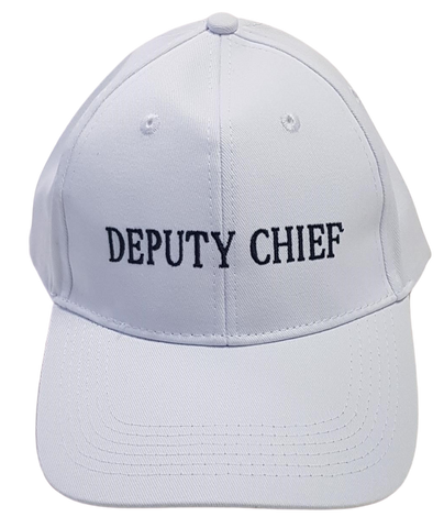 White Deputy Chief Warden cap