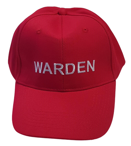 Fire Warden Cap Red, wardens caps