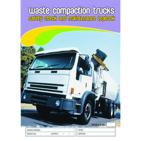 Waste Compaction Trucks Safety Pre Start Checklist and Maintenance Logbook