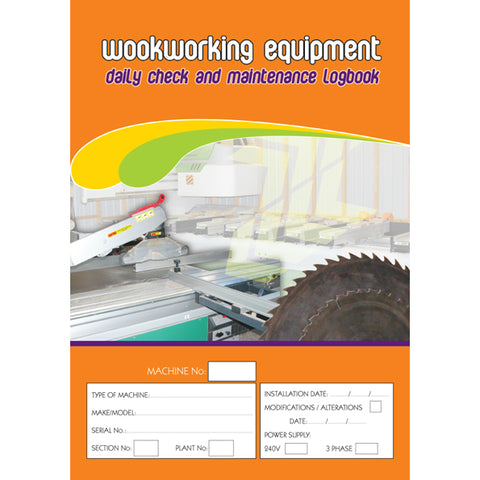 Woodworking Equipment Daily Check And Maintenance Logbook