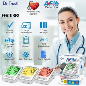 Dr Trust USA Afib Pro - Atrial Fibrillation Digital BP Monitor Blood Pressure Check 102