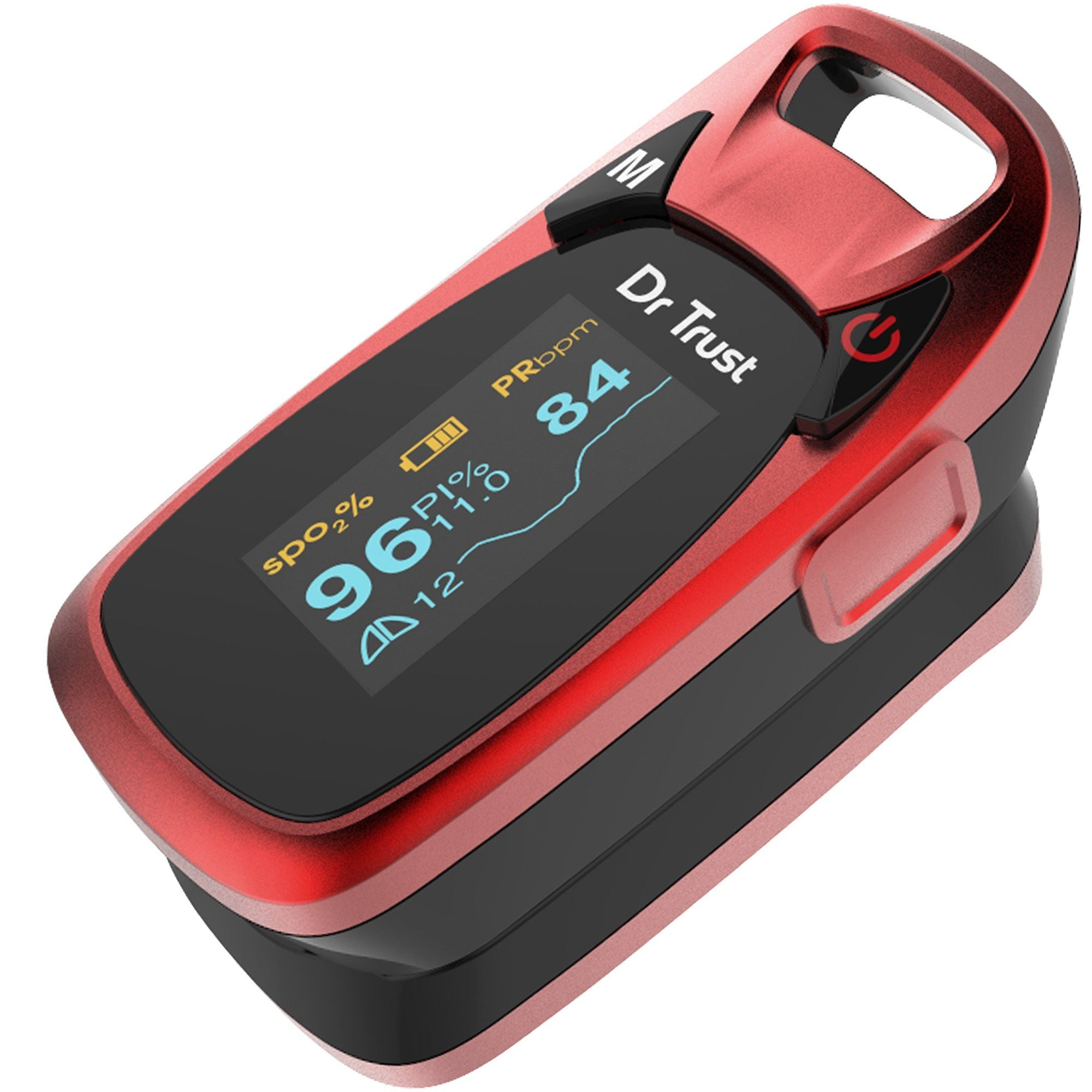 Dr Trust USA Professional Series Finger Tip Pulse Oximeter (Red) 203 - Dr Trust USA