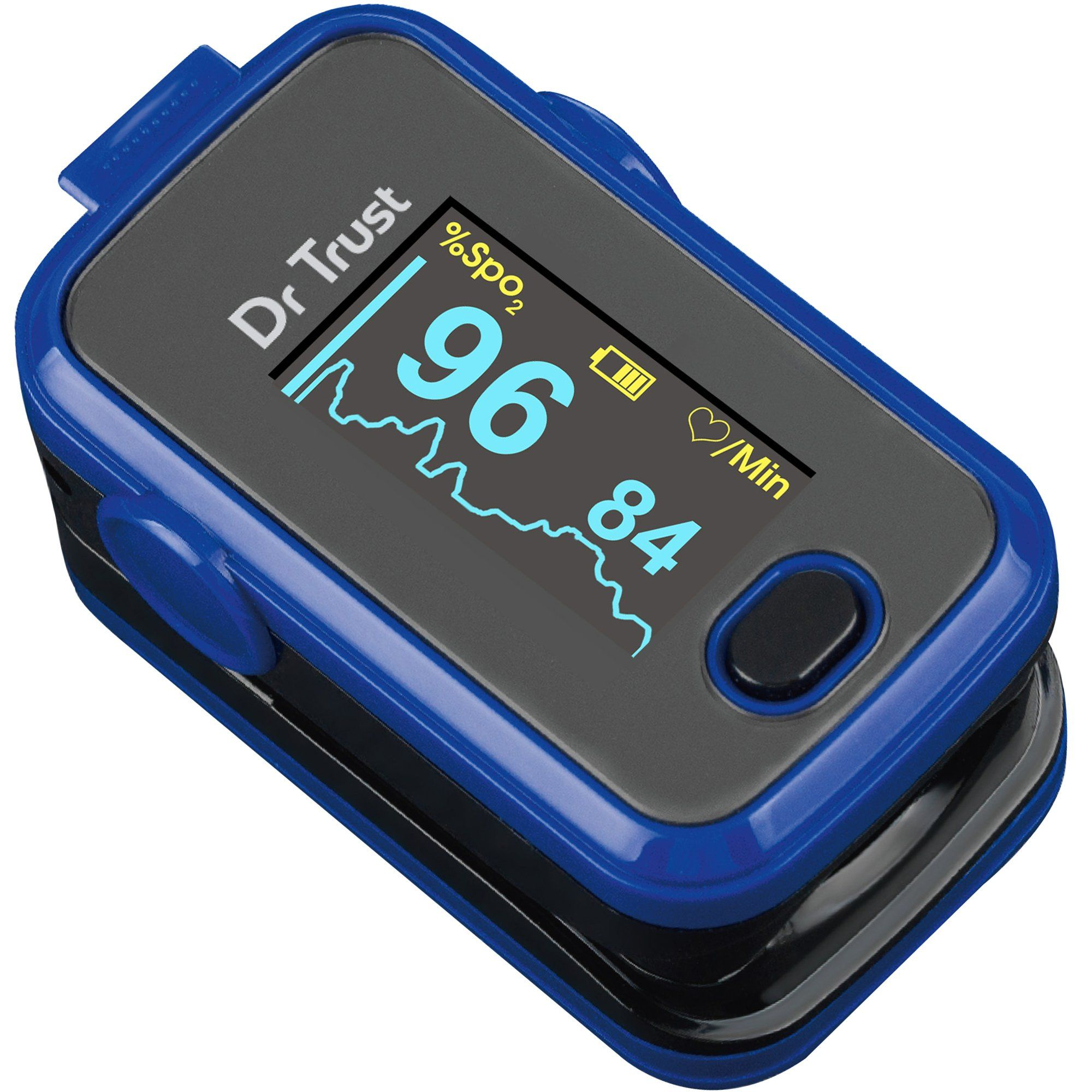 Dr Trust USA Signature Finger Tip Pulse Oximeter (Blue) 207 - Dr Trust USA