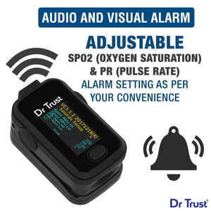 Dr Trust USA Signature Fingertip Pulse Oximeter Spo2 check 201 (Black) - Dr Trust USA