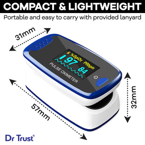 Dr Trust USA Fingetip Pulse Oximeter SpO2 check 209 - Dr Trust USA