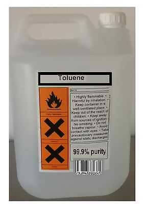 25 Litres Toluene Methylbenzene Toluol 99.9% Solvent Paint Thinner Cleaner 25L