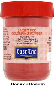 25g East End Bright Red Food Colouring