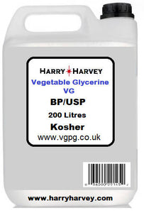 200 litre Vegetable Glycerine (VG) - Food Grade Glycerol E422 200L - 250kg