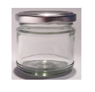 100 X 30ml small 1oz 28g Mini Glass Jam Jars with Silver Lids