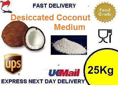 25 Kg Bulk Trade Desiccated Coconut Medium Baking Cake Decorating Bakery Flakes
