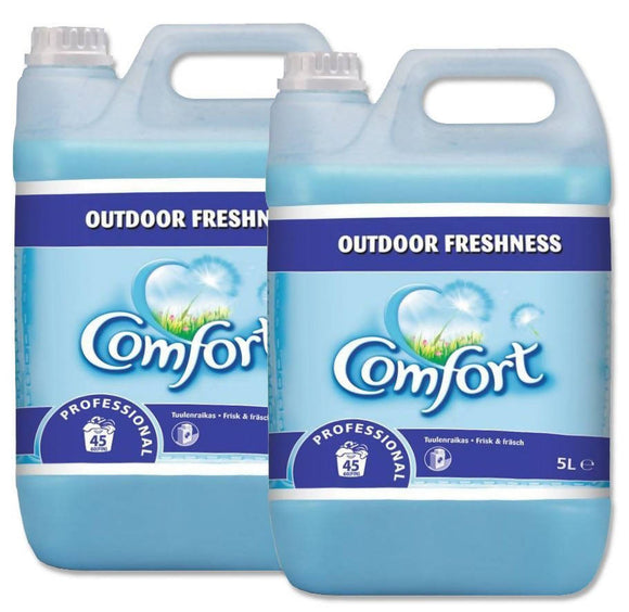 2 x 5L Comfort Regular Fabric Conditioner Softener Blue outdoor freshness
