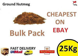 25 KG Ground Nutmeg Bulk Trade - Grade A Premium - Herbs & Spice Mix Seasoning - 181107422908