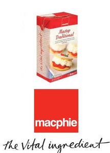 1 Litre Mactop® Traditional Whipped Cream Alternative