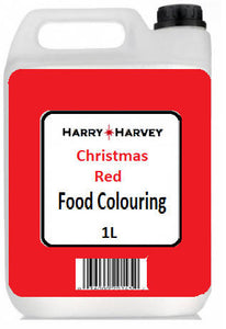 1 litre Harry Harvey Liquid Christmas Red Food Colouring
