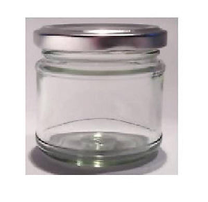 50 X 30ml small 1oz 28g MINI GLASS JARS SILVER LIDS Jam WEDDING FAVOURS HAMPERS - 171405231407