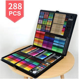 288 PCS Kids Gift Watercolor Drawing Art Marker Brush Pen Set Children Painting Art Set For Kids Gift Office Stationery Supplies