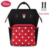 Disney Mickey Mouse Backpack Bag Mummy Diaper Bag Maternity for Baby Care Nappy Travel Bag Travel Stroller Free Hooks