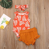 Baby Summer Clothing Newborn Infant Baby Girl Boy Costumes Clothes Sleeveless Floral Romper Shorts Outfits Set детская одежда