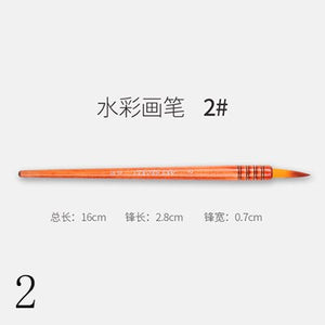 Nylon Hair Watercolor Painting Brush Set Professional Artistic Brushes for Gouache Wash Mop Students Art Painting Supplies