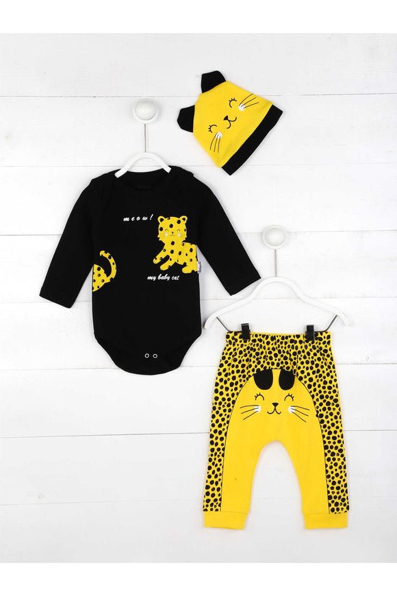 Yellow Baby Boy 3 PCs Set