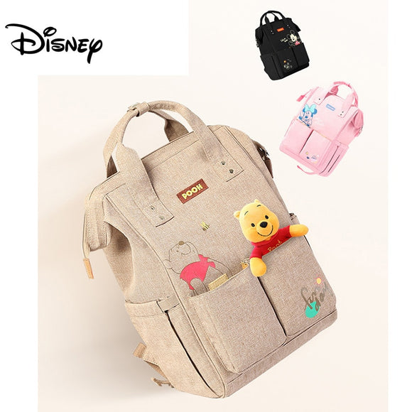 Disney Diaper Backpack Baby Bags for Mom Wet Bag Fashion Mummy Maternity Diaper Organizer Mickey Minnie Double Pocket USB Pram