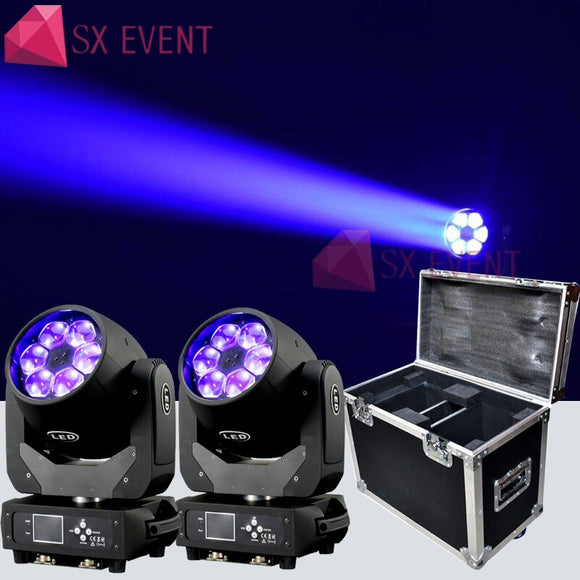 Original 6x40 W Bee Eyes Moving Head Light RGBW 4in1 LED Wash Zoom Moving Head DMX  Stage Light para DJ Disco Nightclub 2PCS/lot