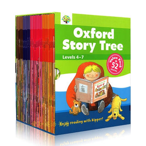 52 Books/Set  4-7 Level Oxford Story Tree Baby English Story Picture Book Baby Children Educational Toys
