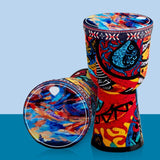 8inch Music With Strap School Live Performance Djembe Drum Stage Children Toys For Kids Home Colorful Painted Birthday Gifts
