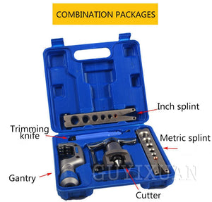 Air conditioning refrigeration repair kit eccentric tapered flaring tool manual copper tube expander tool set