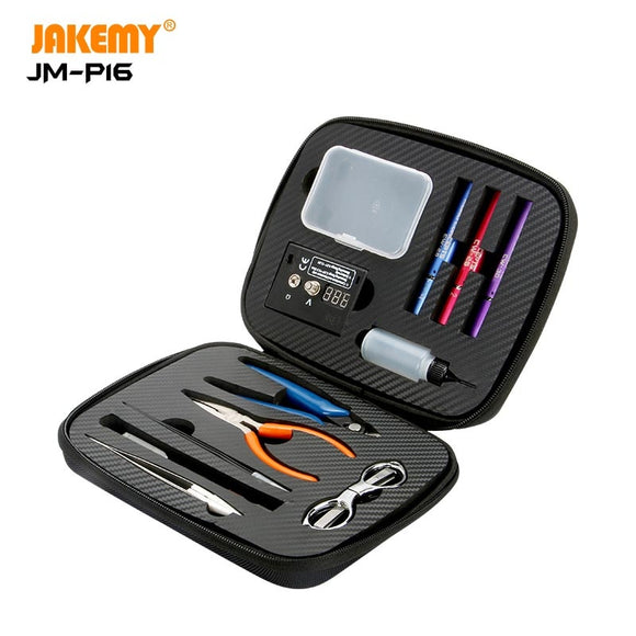 JAKEMY JM-P16 12 In 1 Electronic Cigarette DIY Repair Tool Set e-cigarette