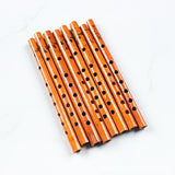 2PCS Chinese Traditional 6 Holes Bamboo Flute Vertical Flute Clarinet Student Musical Instrument Wooden Color For Kids Gift